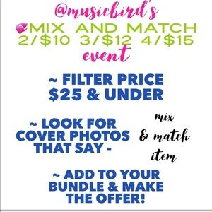 ✨About My Offers & Mix and Match Items